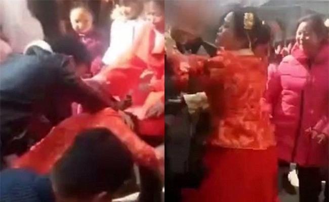 Bị dúi đầu xuống bắt làm lễ, cô dâu nổi xung, đứng dậy tát thẳng vào mặt người khách vô duyên - Ảnh 2.