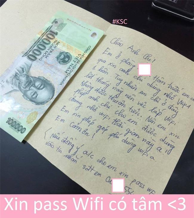 Cô gái được chấm 10 điểm thanh lịch khi viết tâm thư và gửi kèm 100k để xin pass wifi - Ảnh 1.