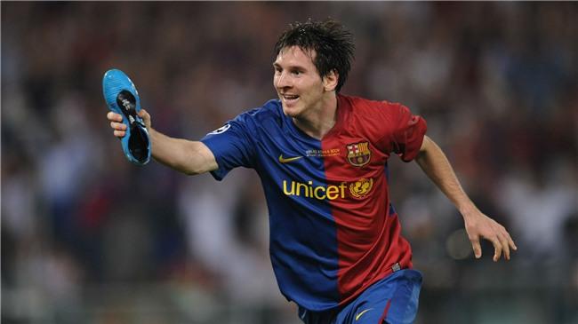 Bộ sưu tập giày thi đấu độc nhất từng được Messi sở hữu - Ảnh 4.