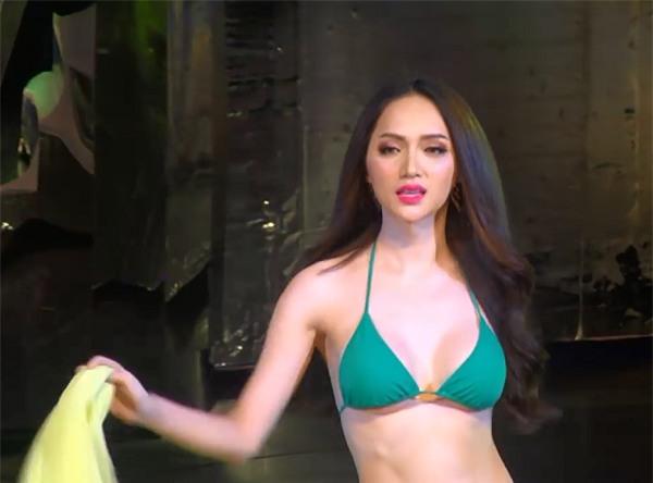 Hương Giang diện bikini, catwalk uyển chuyển đốt cháy sân khấu Hoa hậu Chuyển giới Quốc tế 2018-5