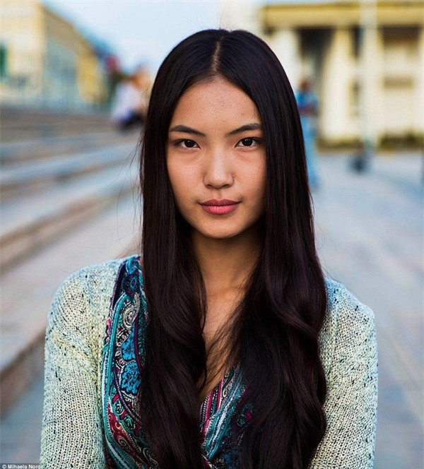 Chân dung một cô gái tại Ulaanbaatar, Mông Cổ