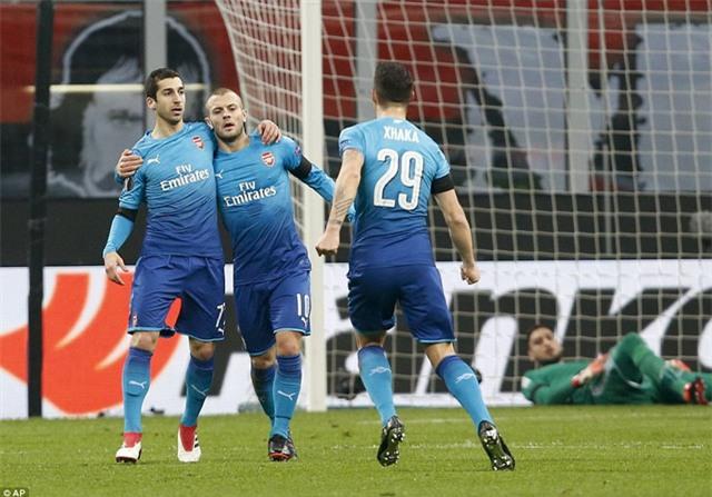 Đánh bại AC Milan, Arsenal chấm dứt chuỗi 4 trận thua liên tục thời gian qua