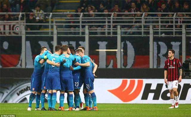 Thắng 2-0 tại San Siro, Arsenal chiếm nhiều lợi thế ở trận lượt về tại Emirates và cánh cửa vào tứ kết Europa League đã mở ra với Pháo thủ