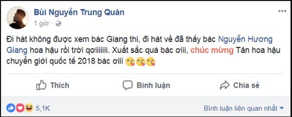 Làng giải trí Việt vỡ òa khi Hương Giang đăng quang Hoa hậu Chuyển giới Quốc tế 2018-11