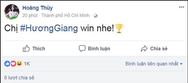 Làng giải trí Việt vỡ òa khi Hương Giang đăng quang Hoa hậu Chuyển giới Quốc tế 2018-2