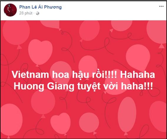 Làng giải trí Việt vỡ òa khi Hương Giang đăng quang Hoa hậu Chuyển giới Quốc tế 2018-3