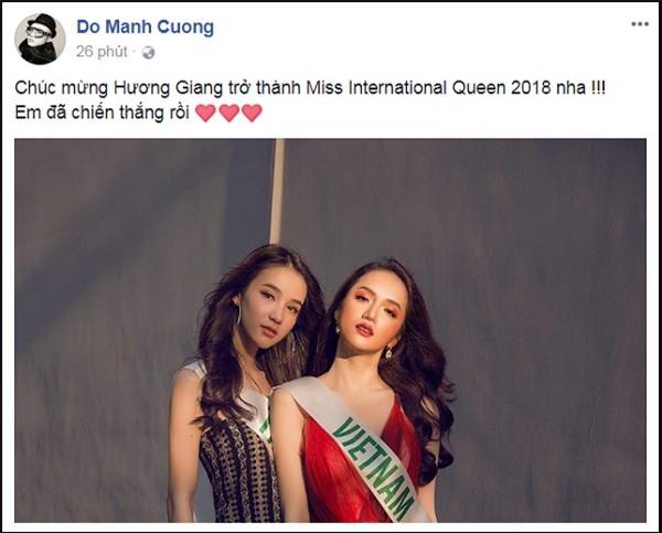 Làng giải trí Việt vỡ òa khi Hương Giang đăng quang Hoa hậu Chuyển giới Quốc tế 2018-4