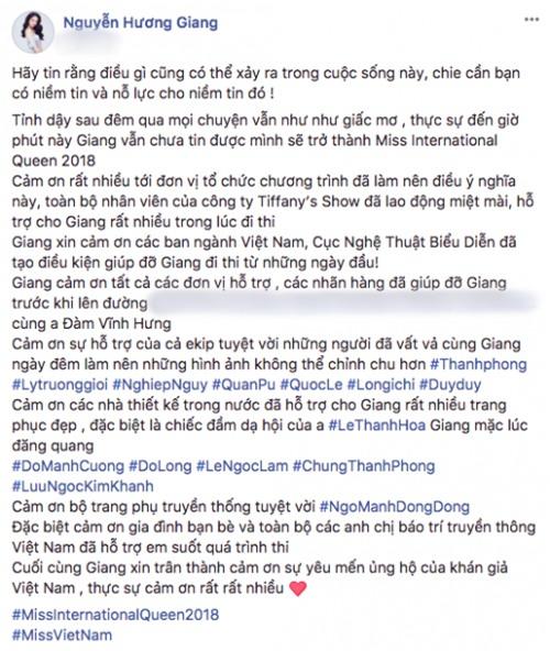 Hoa hậu Hương Giang: 'Tỉnh dậy, mọi chuyện vẫn như giấc mơ'-2