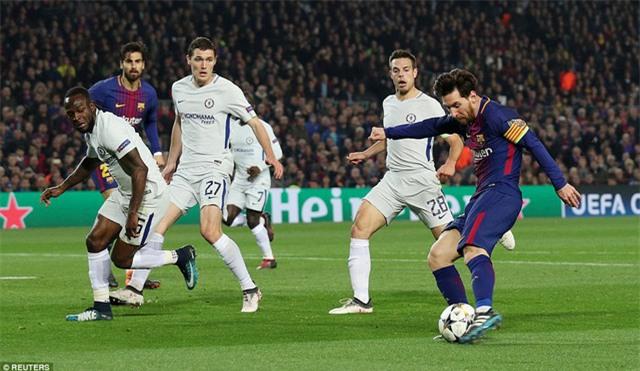 Messi đang là cầu thủ ấn tượng nhất ở vòng 1/8 Champions League, cùng với C.Ronaldo