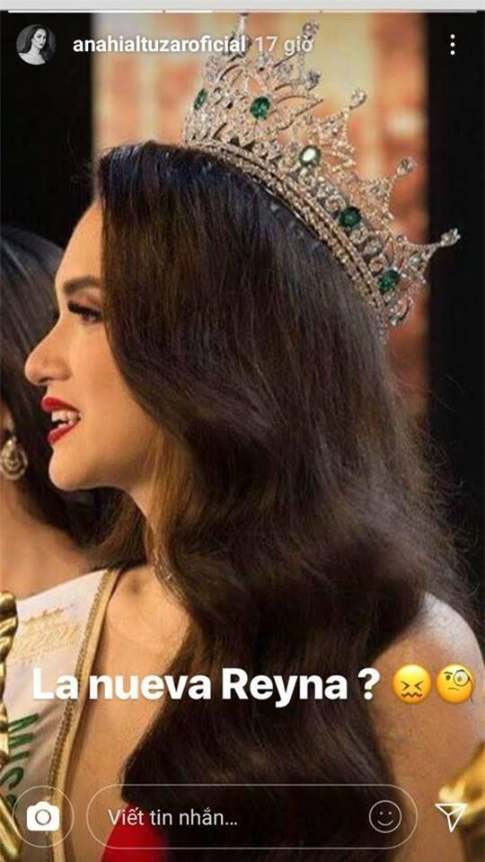 Hương Giang lại ghi điểm với câu trả lời về thông tin đối thủ Mexico không phục kết quả Hoa hậu - Ảnh 3.