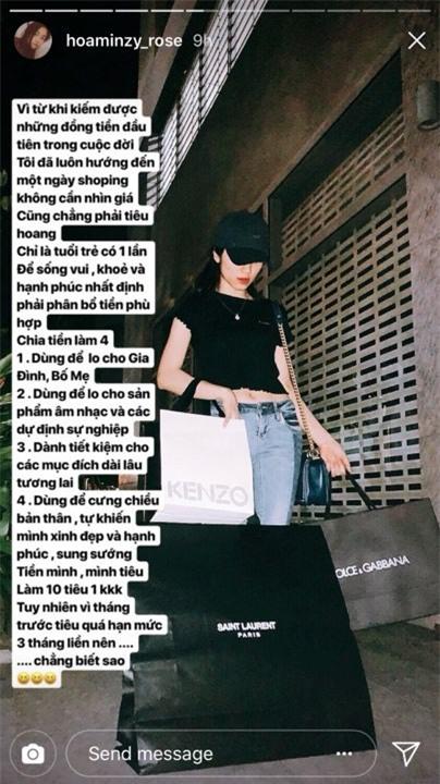 Rũ bỏ hình ảnh 'cô bé mặc đồ fake' ngày nào, Hòa Minzy chính thức bước chân vào đội quân 'tín đồ hàng hiệu' khi mạnh tay chi hẳn một khoản lớn sắm sửa. Cô cũng biết cách chăm chút vẻvà yêu bản thân hơn.