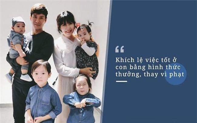 Lý Hải Minh Hà là gia đình nghệ sĩ gây ngưỡng mộ vì khéo chăm con.