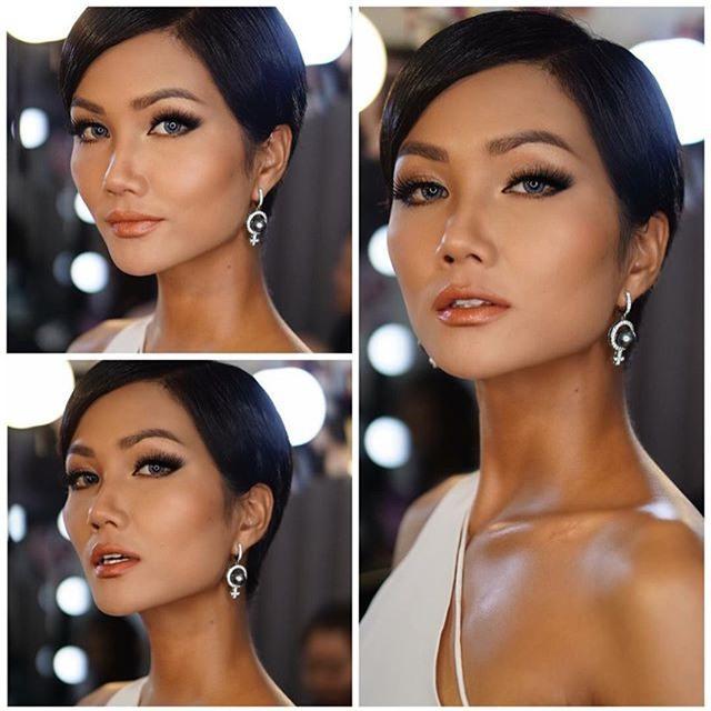 Tóc mái chéo nữ tính là thế, nhưng Hoa hậu HHen Niê lại vuốt gel nặng nề khiến nhan sắc giảm đi nhiều phần  - Ảnh 4.