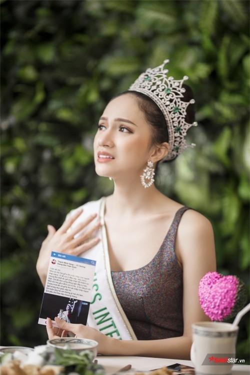 Hoa hậu Hương Giang sởn da gà đọc thư fan: Nhờ chị mà gia đình chấp nhận giới tính thật của em - Ảnh 3.