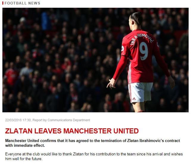 Ibrahimovic chia tay Man Utd hinh anh 1