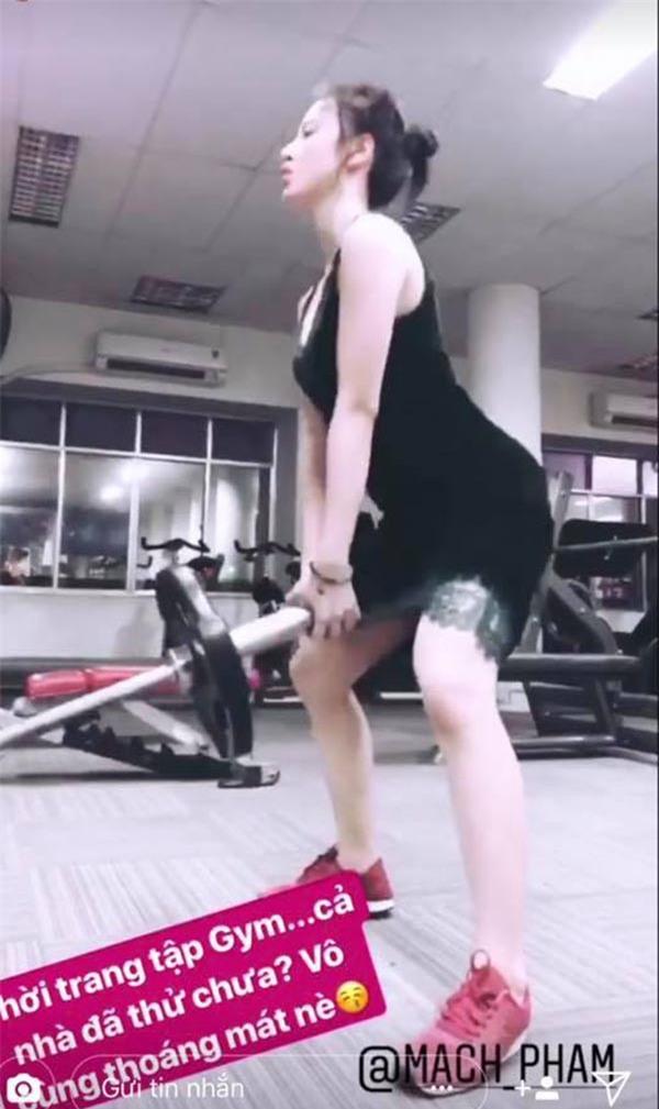 Clip Angela Phương Trinh tập gym quá lố gây tranh luận - Ảnh 3.