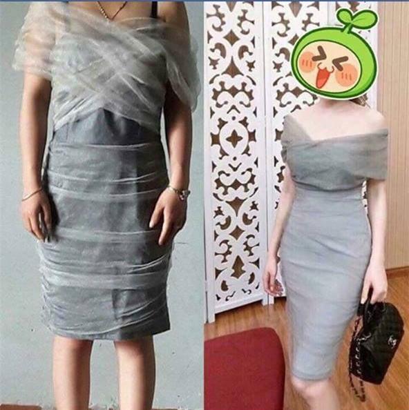 Đặt mua váy hot girl trên mạng, cô gái cao gần 1m6 kêu trời vì được ship cho bao tải, ngực tụt đến tận eo - Ảnh 6.