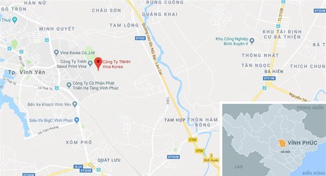 Chay lon tai cong ty may Han Quoc o Vinh Phuc hinh anh 3