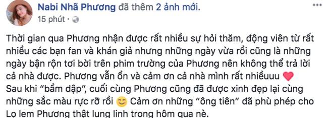 Nhã Phương chính thức lên tiếng giữa ồn ào tình ái của Trường Giang và Nam Em: Phương vẫn ổn - Ảnh 1.