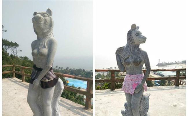 12 tượng khỏa thân ở Đồ Sơn gây bão sẽ được chủ nhân mặc quần áo