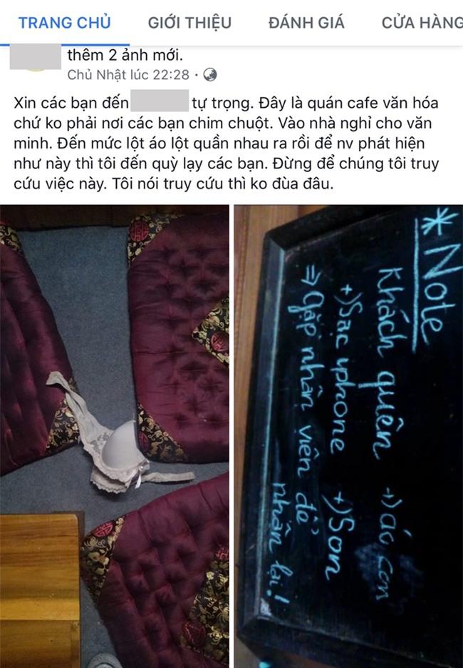 Khách vào quán cà phê sách chim chuột, để quên cả áo ngực, chủ quán ấm ức tố cáo trên mạng xã hội - Ảnh 1.