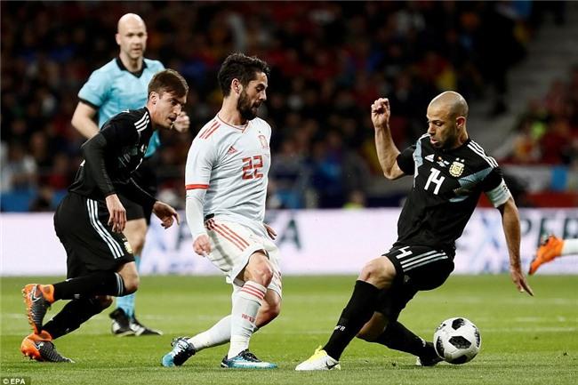 Messi ngồi khán đài, chứng kiến Argentina bị Tây Ban Nha hủy diệt - Ảnh 5.