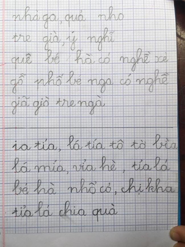 Dù mới lớp 1 nhưng chữ viết của Kutin cũng được rèn luyện kĩ càng. - Tin sao Viet - Tin tuc sao Viet - Scandal sao Viet - Tin tuc cua Sao - Tin cua Sao