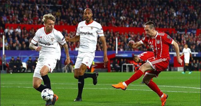 Bayern thi đấu lấn lướt trong những phút đầu trận