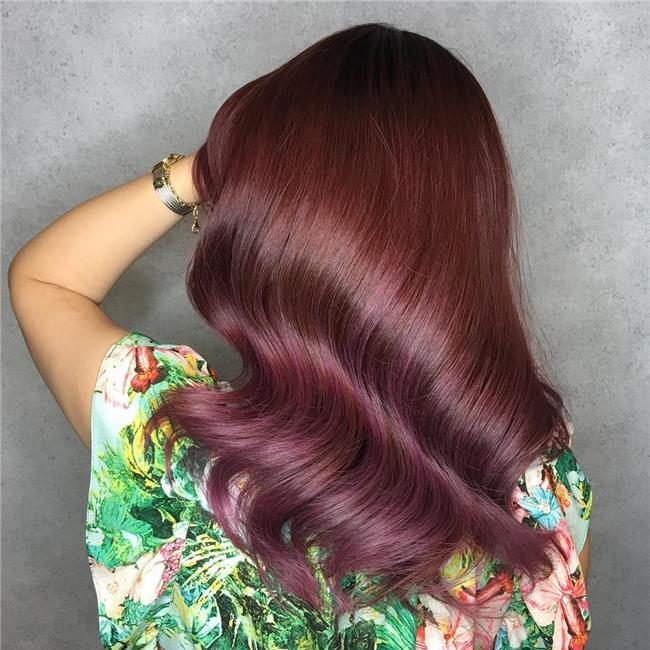 Cuối cùng cũng có một màu nhuộm đẹp long lanh mà con gái châu Á tóc đen có thể đu theo: màu nhuộm nâu hoa hồng - Ảnh 4.