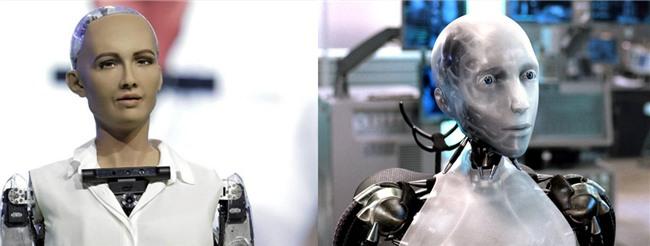 Robot Sophia nhận Will Smith làm anh trai mưa, không cho hôn nhưng vẫn nháy mắt thả thính - Ảnh 4.