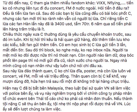 Nghi vấn người Việt bị bắt giữ tại Malaysia vì lừa đảo tiền vé của hàng loạt fan Hàn