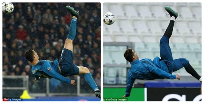 Ronaldo hủy diệt Juventus: Bật nhảy phi thường 2,3m, siêu phẩm từ khổ luyện - 1