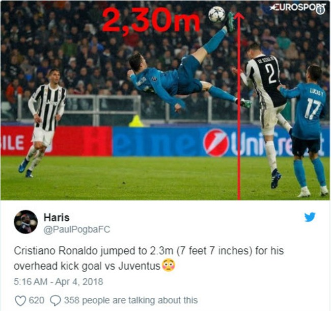 Ronaldo hủy diệt Juventus: Bật nhảy phi thường 2,3m, siêu phẩm từ khổ luyện - 2