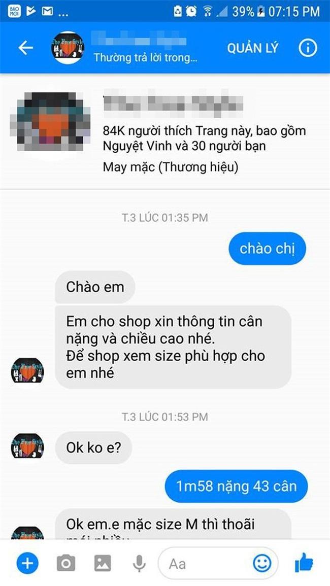 Cô gái căng thẳng không dám đi học vì mới inbox hỏi tư vấn mua áo online đã bị chủ shop tố chuyên lừa đảo và bùng hàng ở TP. HCM - Ảnh 1.