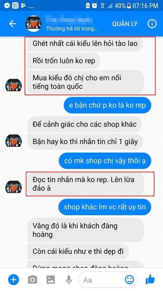 Cô gái căng thẳng không dám đi học vì mới inbox hỏi tư vấn mua áo online đã bị chủ shop tố chuyên lừa đảo và bùng hàng ở TP. HCM - Ảnh 4.