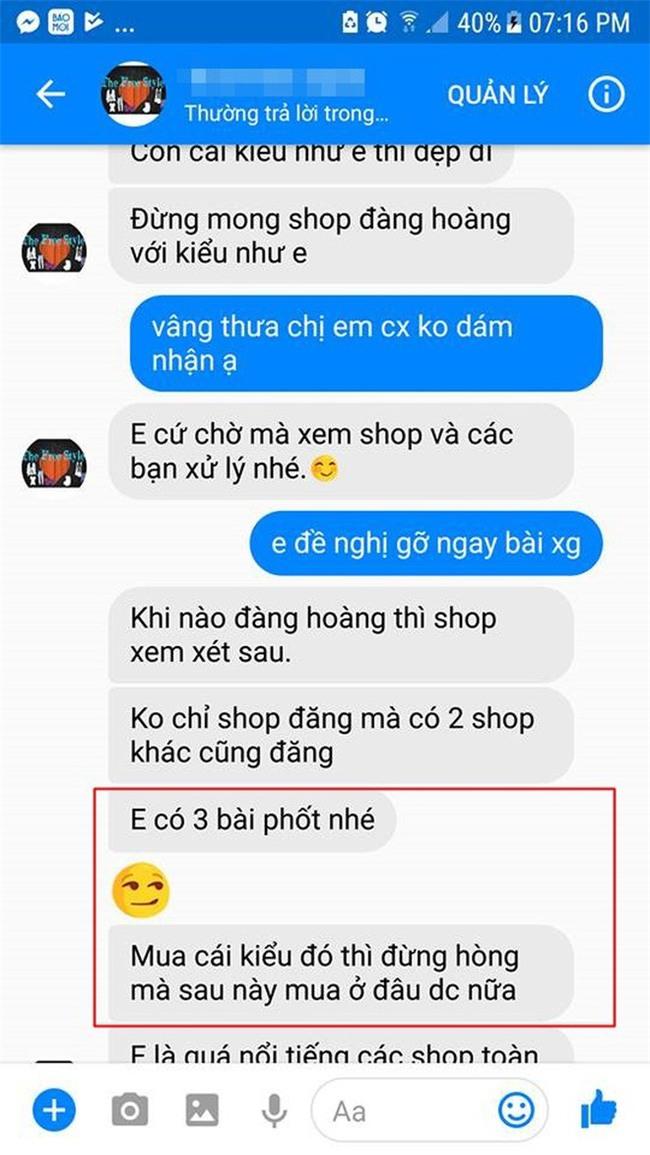 Cô gái căng thẳng không dám đi học vì mới inbox hỏi tư vấn mua áo online đã bị chủ shop tố chuyên lừa đảo và bùng hàng ở TP. HCM - Ảnh 5.