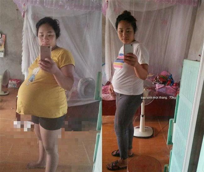 Hình ảnh mẹ trẻ 4 năm mổ 3 đứa con, tăng cân vùn vụt đến mất hết cả dáng khiến người xót kẻ chê - Ảnh 4.