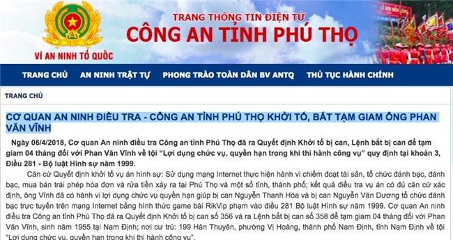 Phan Sào Nam,Rikvip,Trung tướng,Phan Văn Vĩnh,Nguyễn Thanh Hóa,Nguyễn Văn Dương,đánh bạc