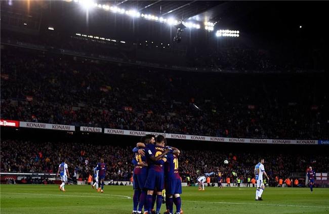 Barca 3-1 Leganes: Messi lập hat-trick, vươn lên dẫn đầu cuộc đua Giày vàng - Ảnh 12.