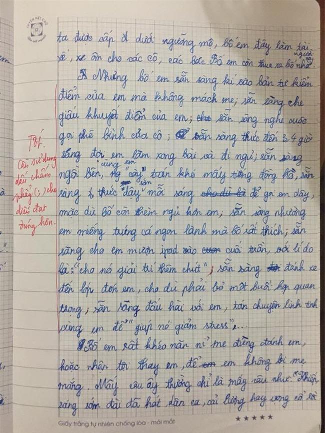 Chê bố không bằng phụ huynh nhà người ta: Bài văn của cô bé lớp 5 khiến người đọc cay mắt - Ảnh 2.