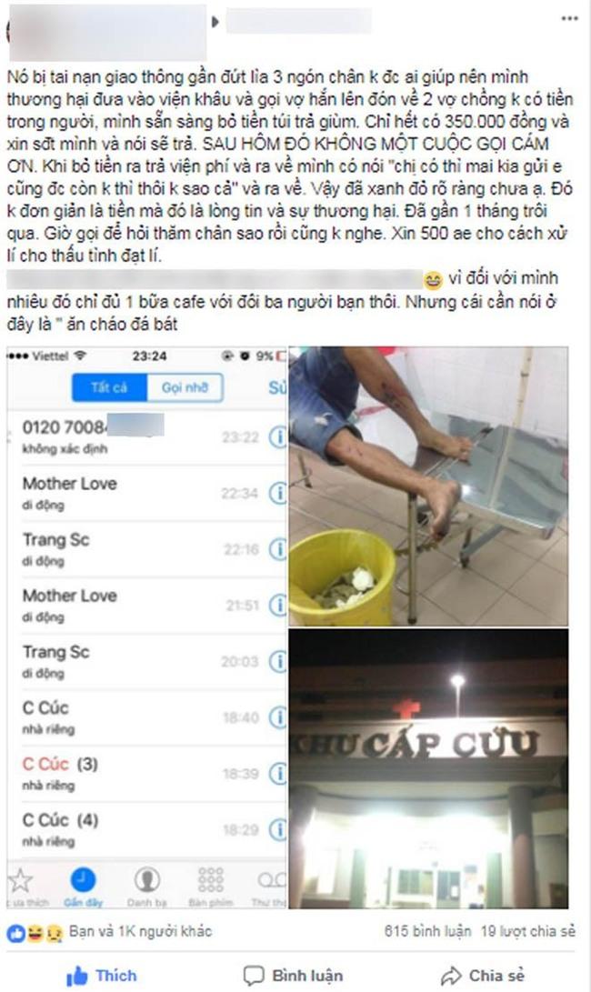 """cuu nguoi gap tai nan roi dong ho 350k vien phi, chang trai khong ngo bi """"nem da"""" ta toi - 1"""