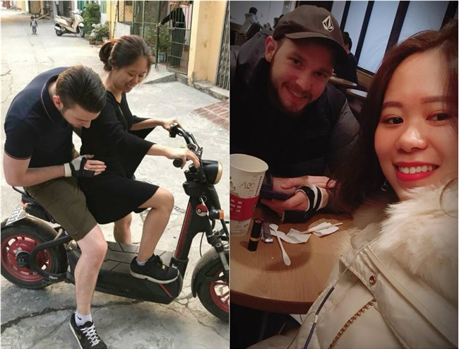 Phát hờn với chuyện tình ngọt ngào của cô gái Việt mét rưỡi với chàng trai Úc cao gần...2m
