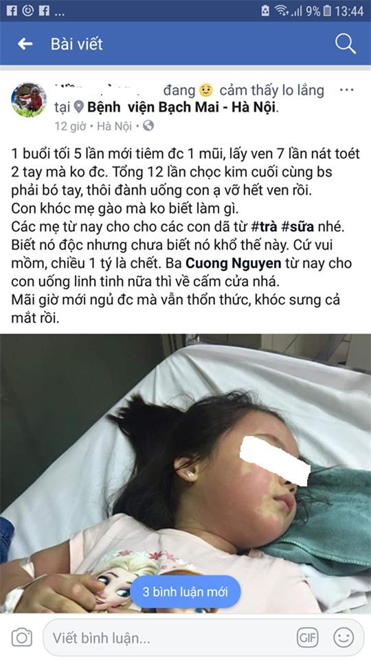 Bé gái 5 tuổi nổi mẩn khắp người sau khi uống trà sữa-1
