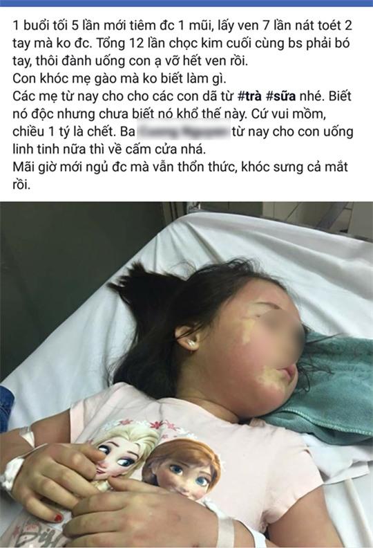 Thực hư vụ bé gái 5 tuổi phải nhập viện Bạch Mai khẩn cấp nghi do ngộ độc trà sữa - Ảnh 1.