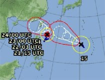 Xuất hiện bão đôi ngoài khơi Thái Bình Dương