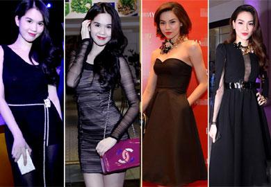 4 người đẹp bị váy đen 'thôi miên'