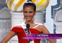 Video: Trương Thị May tự tin tại bán kết Miss Universe
