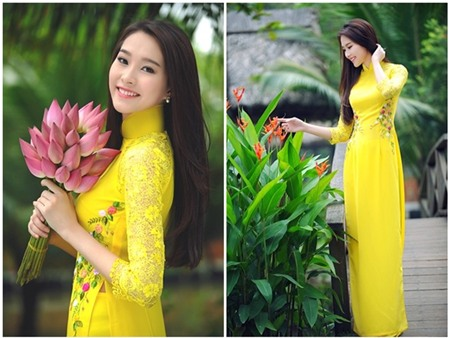 top my nhan dien ao dai dep nhat xuan giap ngo 2 Top mỹ nhân diện