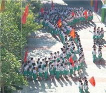 Trẻ tiểu học Đà Nẵng xếp hình bản đồ Việt Nam