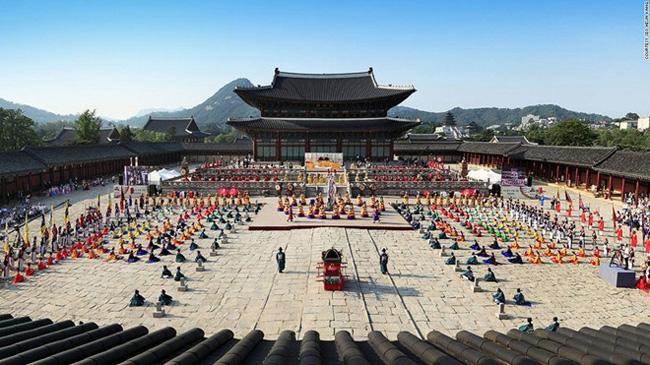 7. Geunjeongjeon, Gyeongbokgung: Những vấn đề đại sự từng được bàn bạc tại điện Geunjeongjeon nằm trong cung Gyeongbokgung, Jongno-gu, Seoul.